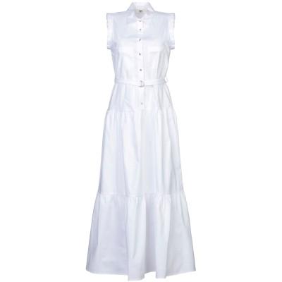 バイユー B.YU ロングワンピース&ドレス ホワイト M コットン 97% / ポリウレタン 3% ロングワンピース&ドレス