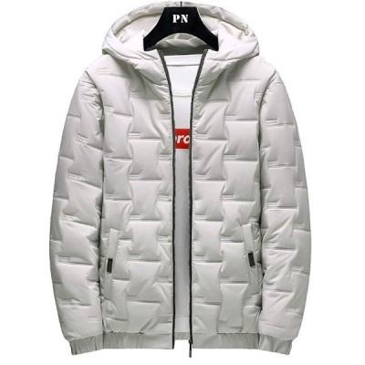 ダウンジャケット メンズトップス 長袖 無地 ウインドブレーカー 春秋冬服 メンズ フード付き アウター カジュアル 防寒 防風 軽量 大きいサイズ