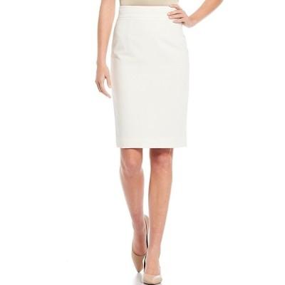 アントニオメラニー レディース スカート ボトムス Jennifer Plain-Weave Pencil Skirt Ivory
