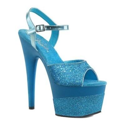 プリーザー サンダル シューズ レディース Adore 709-2G Ankle Strap Sandal (Women's) Aqua Multi Glitter/Aqua Multi Glitter Synthetic