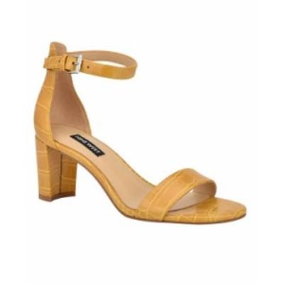 ナインウェスト レディース サンダル シューズ Women's Pruce Ankle Strap Block Heel Sandals Yellow Croco