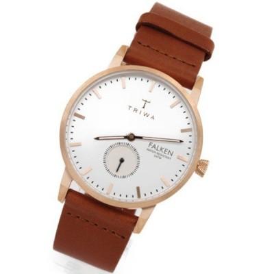 アウトレット品の為、お値引き 値下げ 大人 カジュアル 腕時計 メンズ レディース ユニセックス トリワ ファルケン スモセコ ブラウン レザー ローズゴールド