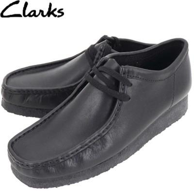 クラークス オリジナルズ CLARKS ORIGINALS メンズ レザー ワラビー WALLABEE 26138269 BLACK LEATHER(ブラック)