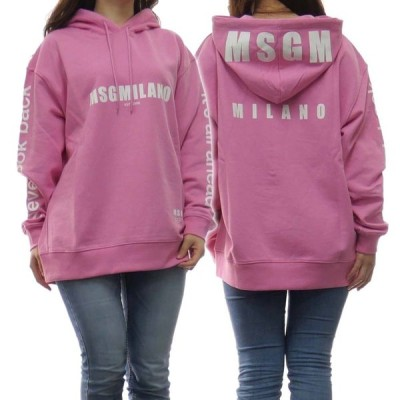 MSGM エムエスジーエム レディースプルオーバーパーカー 2841MDM234 207299 ピンク