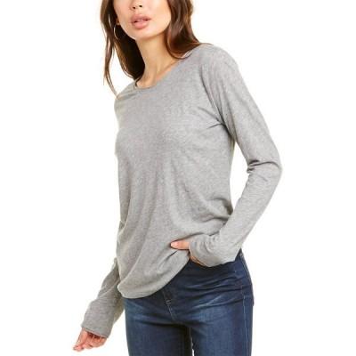 ゴールディ Tシャツ トップス レディース Goldie Raw Edge T-Shirt grey heather