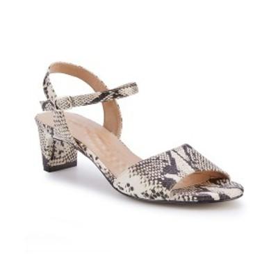 ウォーキング クレイドル レディース サンダル シューズ Lydia Dress Sandal Bone Snake Print Leather