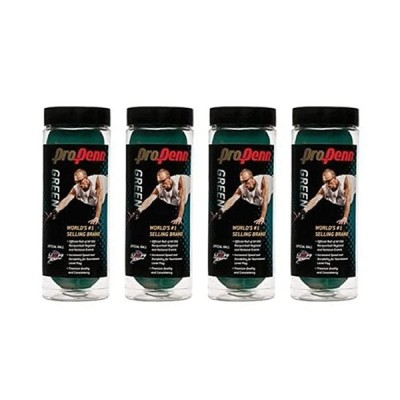 プロ HEAD グリーン Racquetball - 4 Cans (12 Balls)(海外取寄せ品)