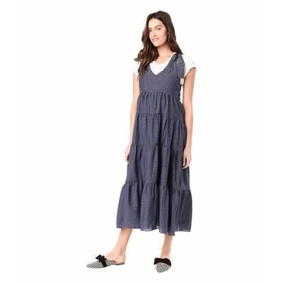 ロイヤル ハナ ワンピース トップス レディース Rio Sleeveless Maternity Dress Navy/White Stripes