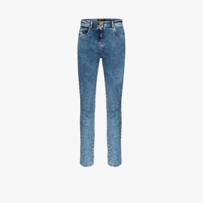ヴェルサーチ Versace レディース ジーンズ・デニム ウォッシュ加工 ボトムス・パンツ washed denim skinny jeans blue