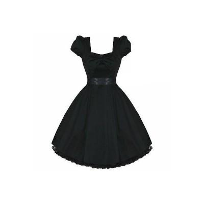 ハーツアンドローズロンドン ドレス ワンピース ブラック ビンテージ 50s Fifties 50s Rockabilly ピンナップ パーティ Prom ドレス UK