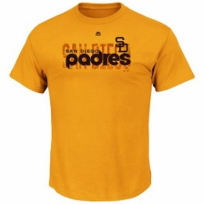 Majestic マジェスティック スポーツ用品  Majestic San Diego Padres Gold Big & Tall Last Rally T-Shirt