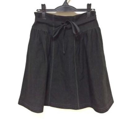 エムズグレイシー M'S GRACY ロングスカート サイズ40 M レディース 新品同様 - 黒 デニム【中古】20210331