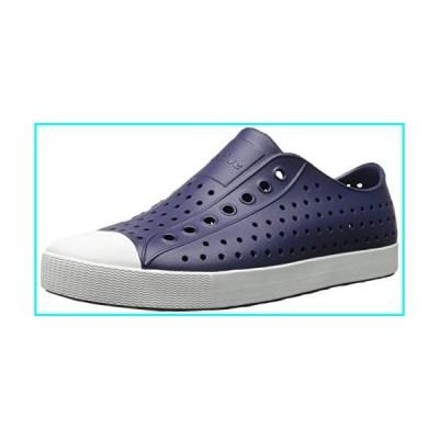 Native Unisex Jefferson Fashion Sneaker,  Regatta Blue/Shell White,5 US Men/7 US Women
