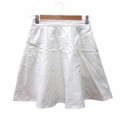 【中古】ブラウニー BROWNY フレアスカート ミニ F 白 ホワイト /YK レディース