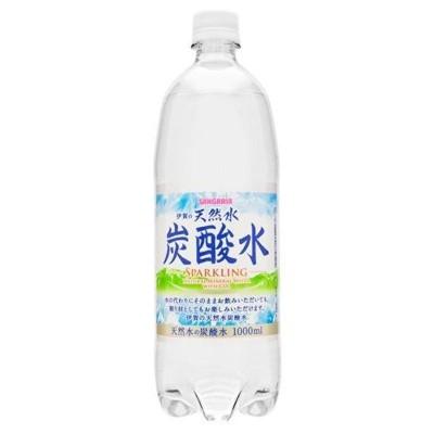 サンガリア 伊賀の天然水 炭酸水 1Lペットボトル×12本入×(2ケース)