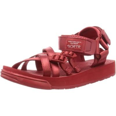 [オリエンタルトラフィック] サンダル スポーツサンダル レディース ベルト 美脚 ヒール 大きいサイズ 小さいサイズ 歩きやすい 3203 RED