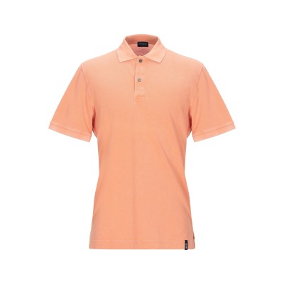 ドルモア DRUMOHR ポロシャツ オレンジ XL コットン 100% ポロシャツ
