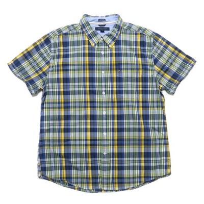 トミーヒルフィガー ボタンダウン 半袖シャツ チェック柄 サイズ表記:XL/TG