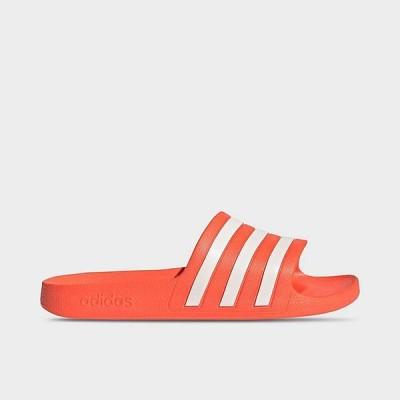 アディダス レディース サンダル adidas Originals Adilette Aqua Slide スリッパ Solar Red/White/Solar Red