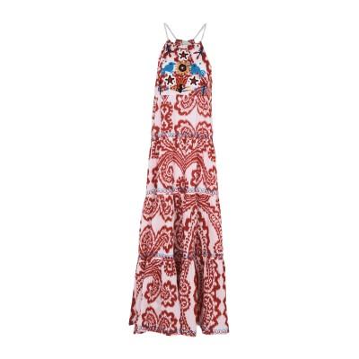 ADA KAMARA ロングワンピース&ドレス レッド M 100% コットン ロングワンピース&ドレス