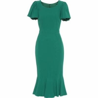 ドルチェandガッバーナ Dolce and Gabbana レディース ワンピース ミドル丈 ワンピース・ドレス Cady-crepe midi dress Dark Green
