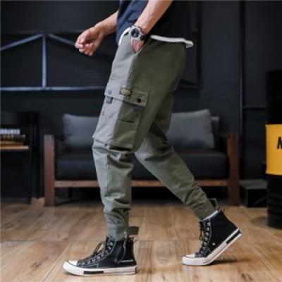 ボトムス メンズ カーゴパンツ テーパードパンツ 着痩せ カジュアルパンツ ポケット m~7xl ワークパンツ 通学 通勤