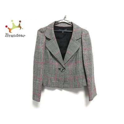 エムズグレイシー M'S GRACY ジャケット レディース 美品 - 黒×白×ピンク  値下げ 20210206