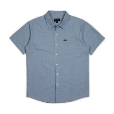 ブリクストン メンズ シャツ トップス Brixton Men's Charter Oxford SS Shirt Light Blue Chambray
