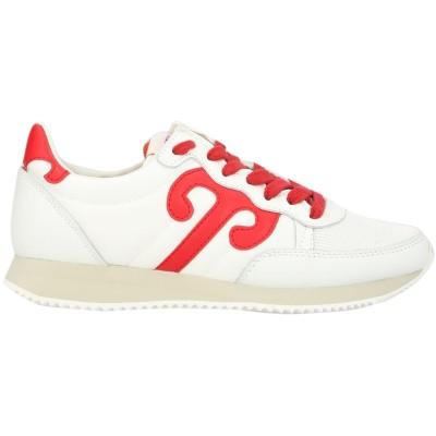 WUSHU SHOES スニーカー&テニスシューズ(ローカット) ホワイト 36 革 / 紡績繊維 スニーカー&テニスシューズ(ローカット)