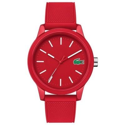 ラコステ 腕時計 アクセサリー レディース Men's 12.12 Red Silicone Strap Watch 42mm Red