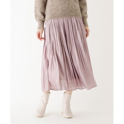 index / 割繊シャイニーサテンワッシャープリーツスカート【WEB限定サイズ】 WOMEN スカート > スカート
