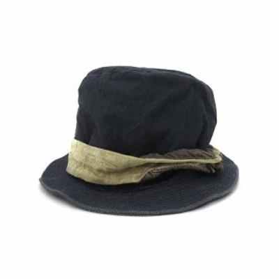 【中古】キャピタル kapital バケット ハット 帽子 3 紺 ネイビー 無地 シンプル メンズ
