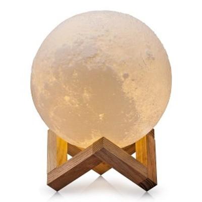 月のランプ ナイトライト デスクライト ベッドサイドランプ かわいい LED小夜灯 照明 寝室 調光可能 ルームライト 3Dプリント 15cm 送料