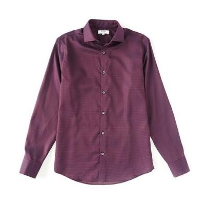 ムラノ メンズ シャツ トップス Slim-Fit Star Print Long-Sleeve Woven Shirt