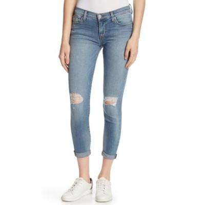 ハドソンジーンズ レディース デニムパンツ ボトムス Harkin Distressed Super Skinny Cropped Cuff Jeans BREEZY BLU