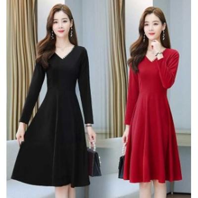予約商品 大きいサイズ レディース  春夏新作 韓国 ファッション ドレッシー ワンピース S-4L  ゆったり 体型カバー オーバーサイズ 大