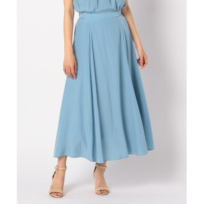 【ノーリーズ】 割繊フレアースカート レディース グレイッシュブルー 36 NOLLEY'S