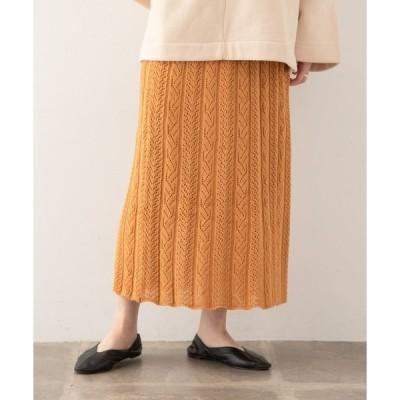 スカート スカシガラニットスカート∴