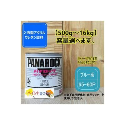 【日塗工 65-60P】ブルー系 マンセル 5B6/8 パナロック 2液型ウレタン塗料 自動車 工業 ロックペイント