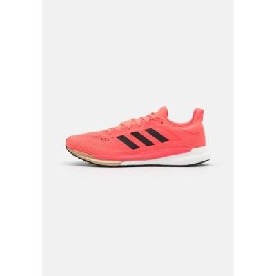 アディダス シューズ メンズ ランニング SOLAR GLIDE BOOST SHOES - Neutral running shoes - signal pink/core black/copper metallic