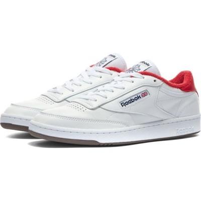 リーボック Reebok メンズ スニーカー シューズ・靴 x Eric Emanuel Club C 85 White/Cherry Tomato