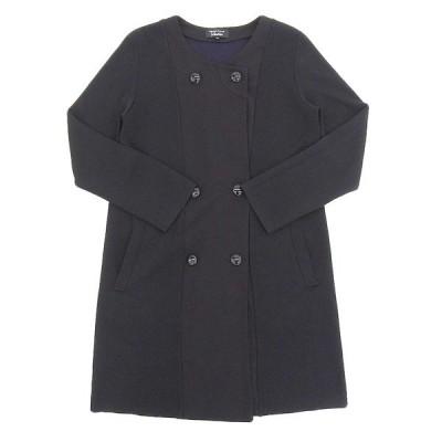 ソニアリキエル SONIA RYKIEL ダブルボタン ノーカラー コート ブラック size38 Y00071