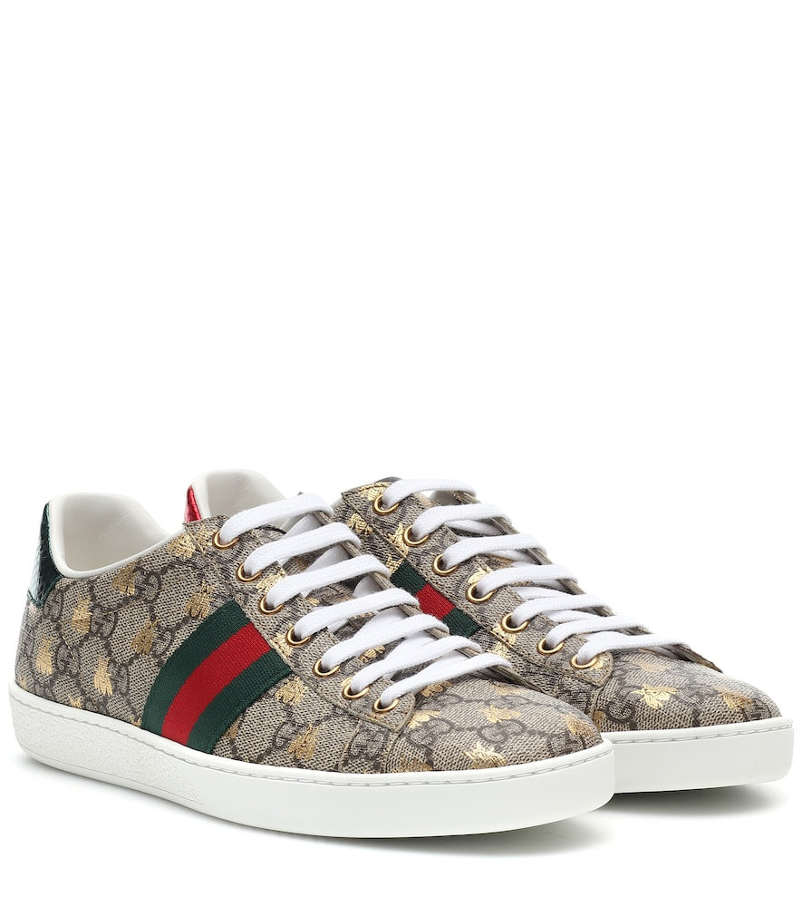 Ace canvas printed sneakers