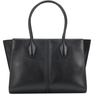 トッズ Tod's レディース トートバッグ バッグ Holly Medium leather tote Nero