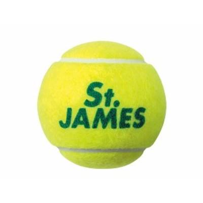 ダンロップ:セントジェームス テニスボール 4個入り【DUNLOP St.JAMES テニス 練習 ボール】