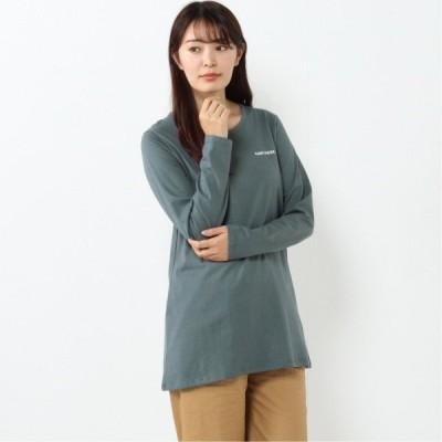 コンバース 天竺ワンポイント刺繍チュニックTシャツ グリーン M L LL 3L 4L 5L