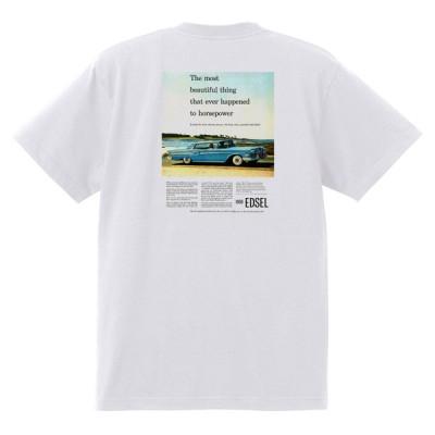 アドバタイジング フォード 851 白 Tシャツ 黒地へ変更可 1958 サンダーバード サンライナー ギャラクシー エドセル フェアレーン f100