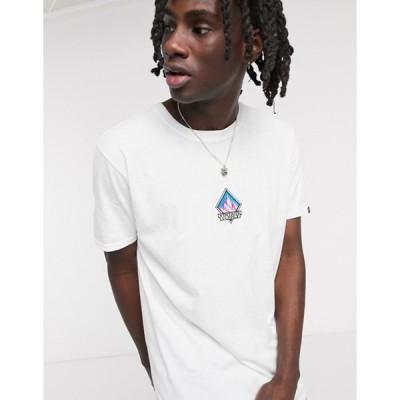 ヴィンテージ サプライ メンズ シャツ トップス Vintage Supply Mountain embroidery t-shirt in white