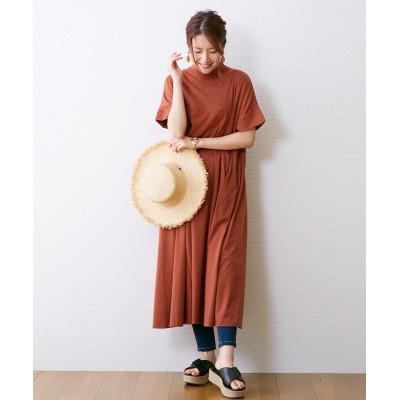 落ち感&切替えが可愛い◎ロングワンピース (ワンピース)Dress