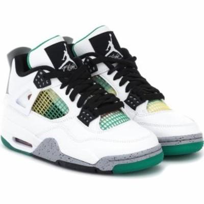ナイキ Nike レディース スニーカー シューズ・靴 air jordan 4 retro leather sneakers White/Black